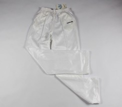 Vintage 80s New Adidas Mens Small Spell Out Trefoil Casual Run DMC Pants... - $75.19