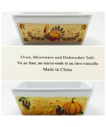 Rectangular Mini Loaf Bread Baking Pan Autumn Stoneware Collection (Oven... - $10.00