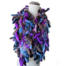 Hand-Woven Real Rex Rabbit Fur Scarf Women Winter Warm Shawl Warps Soft ... - $30.02