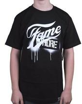 Dissizit! Mens Navy or Black Fame Whore Slick LA Graffiti Paint Drip T-Shirt NWT
