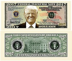 25 Donald Trump President Money Fake Dollar Bills 2017 Federal Inaugural... - $9.85