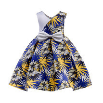 Flowers Girl Dresses With Bow Elegant Satin Flower Bow First Communion D... - £21.28 GBP