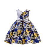 Flowers Girl Dresses With Bow Elegant Satin Flower Bow First Communion D... - $633,53 MXN