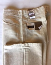 Levis Dockers Herringbone Pants Men 32 Flat Front Relaxed Linen Beige - $55.97
