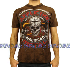 AFFLICTION Battle Humn A9948 New Men`s Slub T-Shirt Tobacco - $45.95