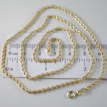 Braided Rope Chain in Yellow 750 18k, 40 45 50 60 cm thickness 2.5 MM image 1