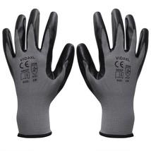 vidaXL 24 Pairs Nitrile Palm Coated Work Gloves Super Comfort Gray Black... - $23.99+