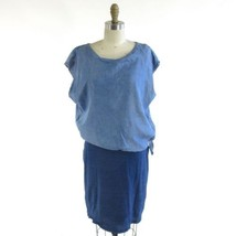 "M - AMADI Anthropologie ""Sandy Tuck"" Blue Sleeveless Chambray Dress 0000MB - $45.00"