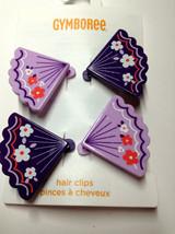 Gymboree Cherry Blossom Line Fan Paper Lantern Snaps Barrette Clip NWT Purple - $9.95