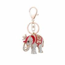 Rhinestone Keychains Elephant Ornament Ring Bag Car Hanging Decoration B... - $8.05