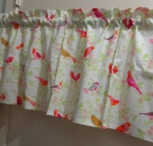 Bird Allover color Magenta Window Curtain Valance  - $15.99