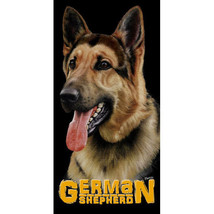 German Shepherd Velour Beach Towel - $17.95