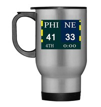 PHI 41 NE 33 final score Travel Mug - $21.99