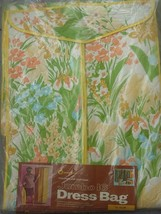 Vtg Towne House Spiegel Mid-Century Vinyl Flowered Dress Bag Jumbo 16 Ye... - $19.99