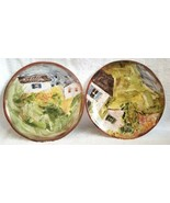 """TWO Pottery Barn WATERCOLOR FARMHOUSE 8.25"""" Salad Plates  NWOT - $27.95"""