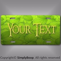 Green Leaf Leaves Personalized Your Text Slate License Plate Auto Car Ta... - $14.84