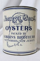 Vintage Jersey's Best Robbins Brothers Port Norris NJ. 1 Gal. Oyster Tin - $231.00