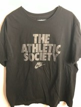 Nike Mens Graphic T-shirt The Athletic society Black Size XXL - $9.85