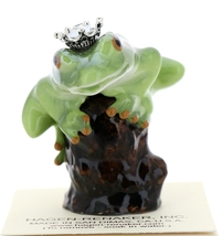 Hagen-Renaker Miniature Tree Frog Figurine Birthstone Prince 12 December Zircon image 1