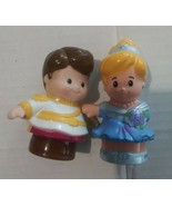 Fisher Price Little People Lot Of 2 Disney Princess Cinderella & Prince ... - $9.89