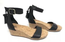 UGG Australia Zoe Tassel Open Toe Wedge Sandal 1019973 Black Women's Sho... - £63.26 GBP