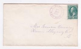 LIMA NEW YORK JANUARY 30 1878 ON 3C GREEN WASHINGTON - $3.43