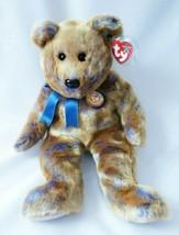 Ty Beanie Babies Clubby III Brown & Blue Bear Beanie Babies Official Clu... - $11.88