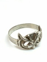 Vintage Silver Alloy Owl Size 8 Ring - $9.89