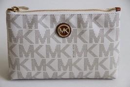 MICHAEL Michael Kors Fulton MK Logo Travel Case Style # 35T5GFTM4B, Vanilla - £39.25 GBP