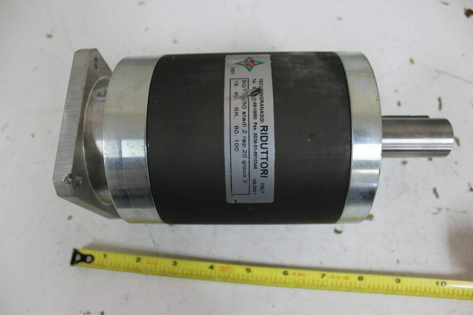 Riduttori BGT 1050 Planetary In-Line Two-stage Gear Reducer 9:1 Ratio New