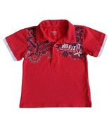Toughskins Size 3T Toddler Boys Red Half Button Shirt - $1.45