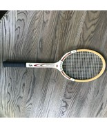 "Vintage Spalding Tennis Racquet: Wooden ""Match Play"" made in Belgium. Cl... - $17.82"