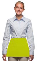 3 Pocket Waist Apron Lime Green Waiter Waitress Bar Staff Craft USA Made... - $11.61