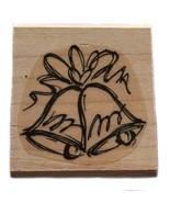 Rubber Wood Stamp Stamping Crafting Christmas Wedding Bells Stampin Up - $9.89