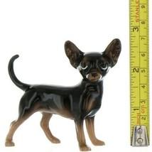 Hagen Renaker Pedigree Dog Chihuahua Large Black and Tan Ceramic Figurine image 2