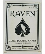 Raven Playing Cards Giant Size Bicycle Brand Plastic Coated Fundex Deck - $7.69