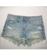 Abercrombie and Fitch Jean Shorts Bootie Size 0 Distressed Destroyed Jun... - $15.47