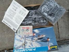Revell p-38j Lightning 1:32 model PUDGY 1992 unused sealed parts - $99.00