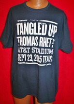 Thomas Rhett 2015 Tangled Up Concert Tour Crew T-SHIRT Xl At&T Stadium Texas - $17.81