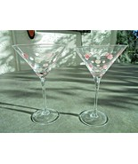 "Set of 2 Martini Glasses 7 5/8"" Tall - $13.86"