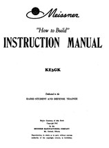 Meissner How to Build Instruction Manual * 1943 * CDROM * PDF - $7.99