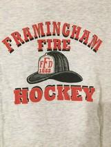 Framingham MA Fire Department Hockey tshirt sz large - £17.92 GBP