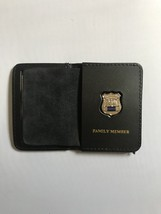 Police Officer Thin Blue Line Mini Shield Leather ID Wallet - (Family Member) - $22.28