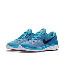 Women's Nike Lunar 3 Flyknit Running Shoes NEW Blue/Black/White , MSRP $150 - $56.99