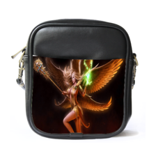 Sling Bag Leather Shoulder Bag Juggernaut Wars Sexy Girl With Wings Pop... - $14.00