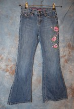 Girls Prefaded Embroidered Gap Flare Jeans Size 8 very good - $6.92