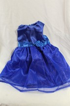 """18"""" doll dress sleeveless party dress with rose royal blue - $6.79"""