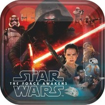 """Star Wars """"The Force Awakens"""" VII 8 9"""" Square Dinner Lunch Plates - $4.94"""
