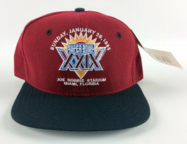 Super Bowl XXIX New Era Baseball Hat Snapback Deadstock - Red - USA Vintage - $29.69