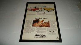 CHRYSLER AVENGER-1976 framed original advert - $14.71